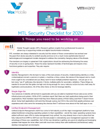 2020 Security Checklist: 5 Things you need to be working on