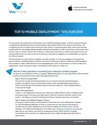 2019 Top 10 Mobile Deployment Tips