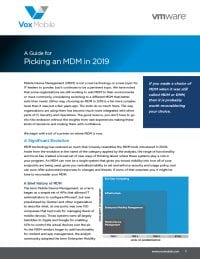 2019 Guide for Picking an MDM