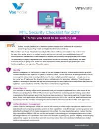 2019 MTL Security Checklist: 5 Things you need to be working on
