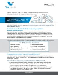 About Vox Mobile - More than an MDM Reseller.