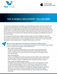 2020 Top 10 Mobile Deployment Tips