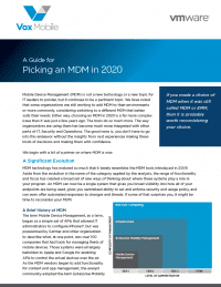 2020 Guide for Picking an MDM