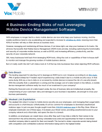 4 Business-Ending Risks of not Leveraging MDM Software