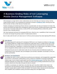 4 Business-Ending Risks of not Leveraging MDM Software