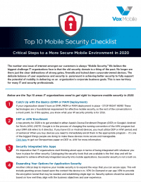 Top 10 Mobile Security Checklist