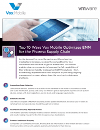 Top 10 Ways Vox Mobile Optimizes EMM for the Pharma Supply Chain