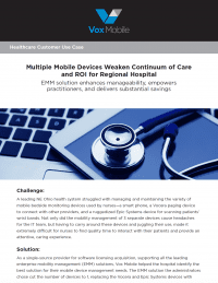 Use Case: Mobile Devices in Healthcare Improve Care.