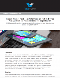 Use Case: Mobile Devices in Financial Services