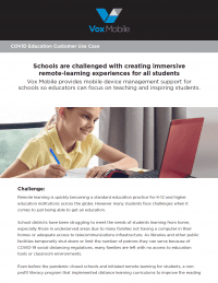 Education Use Case: Mobilize Your Distance Learning Plan.