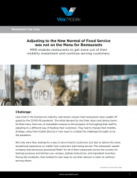 Food Service Use Case: Mobile Devices Improve Sales